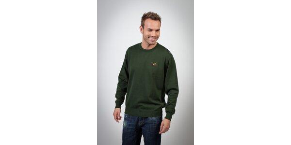 Pánsky tmavo zelený sveter Spagnolo