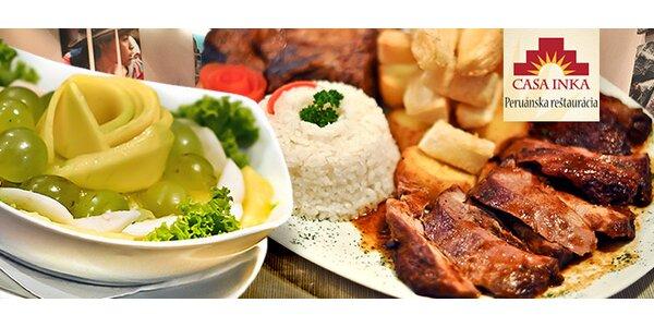 Peruánske menu pre dvoch