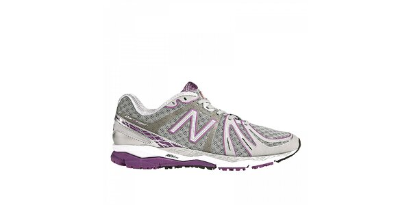 Dámske šedo-fialové bežecké tenisky New Balance