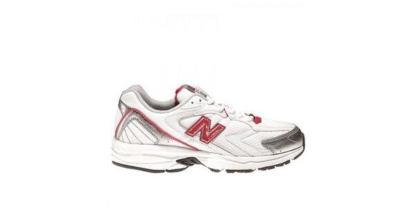 Dámske bielo-červené bežecké tenisky New Balance