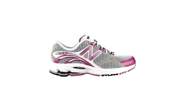 Dámske šedo-ružové bežecké tenisky New Balance