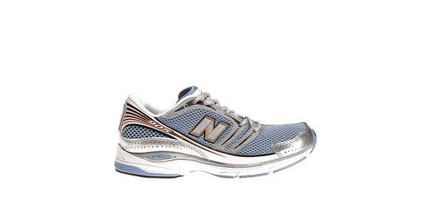 Dámske modro-strieborné bežecké tenisky New Balance