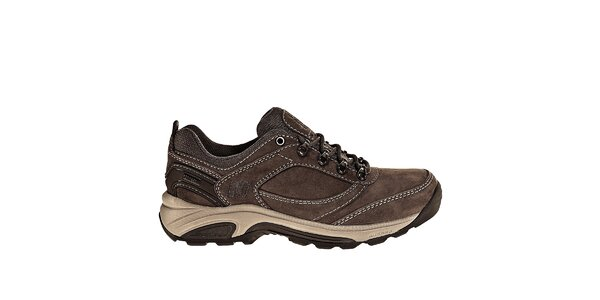 Dámske tmavo hnedé kožené trekingové tenisky New Balance