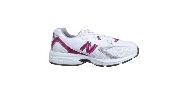 Dámske bielo-ružové bežecké tenisky New Balance
