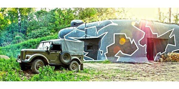Potulky po vojenských bunkroch a jazda na historickom vozidle
