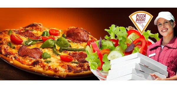 2 x Pizza Bucki alebo šalát podľa vlastného výberu