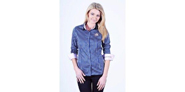 Dámska modro-biela košeľa s prúžkom Pontto