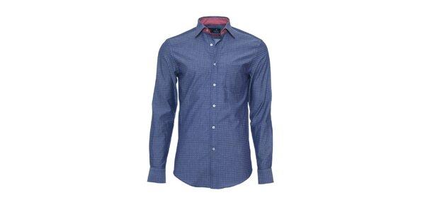 Pánska tmavo modrá košeľa z limitovanej kolekcie Pontto