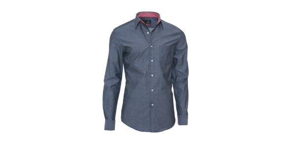 Pánska tmavo šedá košeľa z limitovanej kolekcie Pontto