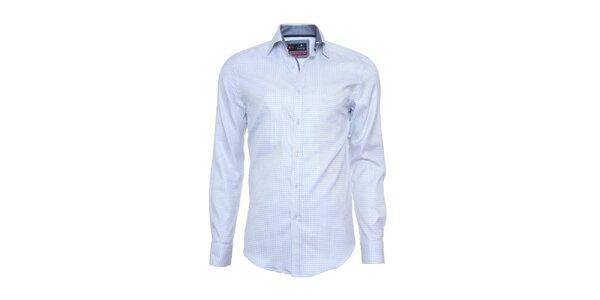 Pánska svetlo modro kockovaná košeľa Pontto