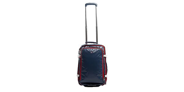 Malý modrý kufor s červenými zipsami Tommy Hilfiger