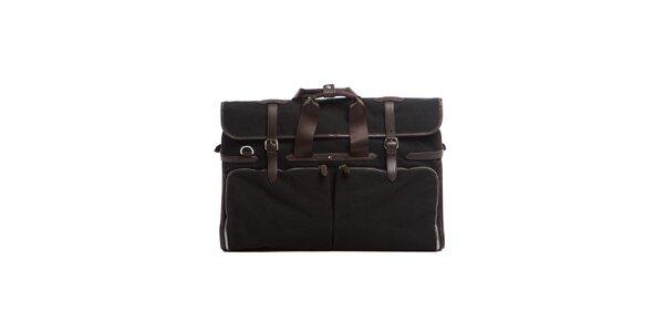 Čierna obleková taška Tommy Hilfiger