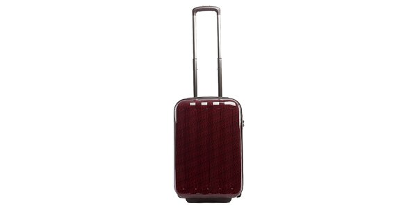 Malý červený cestovný kufor s šedým vnútrajškom Tommy Hilfiger