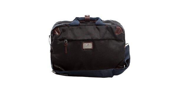 Čierna taška na dokumenty a laptop Tommy Hilfiger