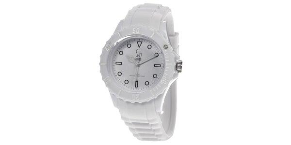 Biele analogové hodinky Senwatch