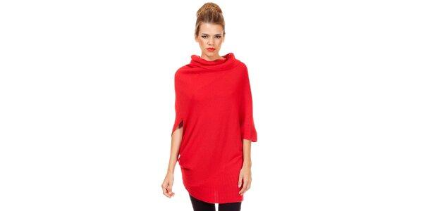 Dámsky voľný červený sveter Missing Johnny
