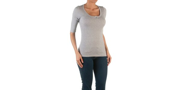 Dámske šedé tričko s 3/4 rukávmi Womens Secret