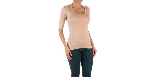 Dámske ružové tričko s 3/4 rukávmi Womens Secret