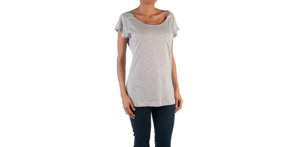 Dámske šedé tričko s gombíkmi Womens Secret