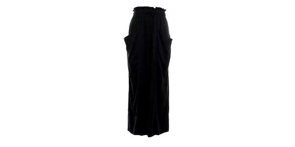 Dámska dlhá čierna nariasená sukňa Next
