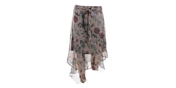 Dámska asymetrická sukňa s potlačou Next