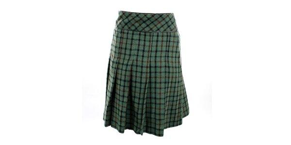Dámska zelená kockovaná sukňa Next