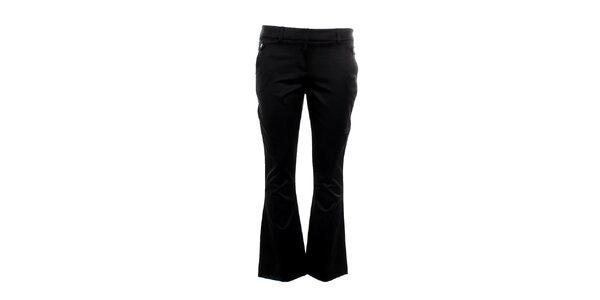Dámske čierne kratšie nohavice do zvonu Next