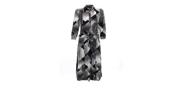 Dámske čierno-biele šaty Mexx