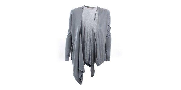 Dámsky šedo-modrý asymetrický sveter Next