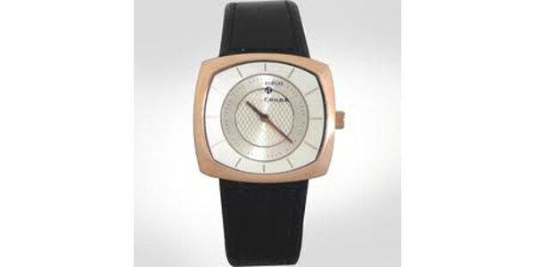 Dámske analogové hodinky so zlatým lemovaním Replay