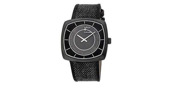Pánske čierno-šedé hranaté hodinky Replay