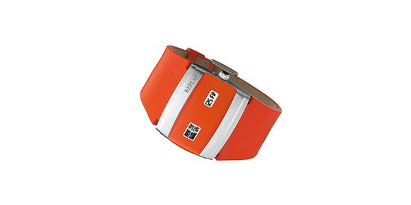 Pánske oranžové hodinky Replay