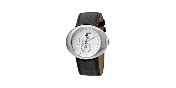 Pánske multifunkčné hodinky Replay s koženým remienkom