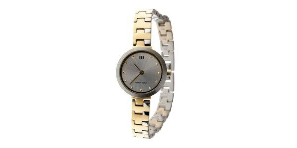 Dámske titanové hodinky Danish Design so zlatými detailmi