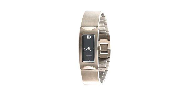 Dámske oceľově šedé hodinky Danish Design
