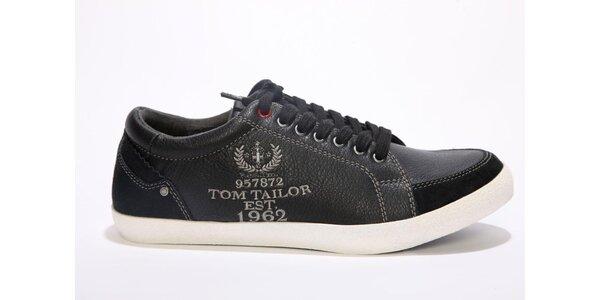 Pánske čierne tenisky Tom Tailor