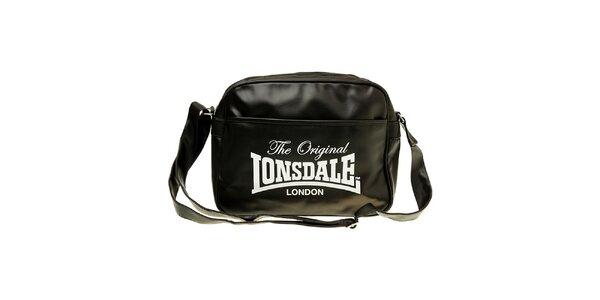 Pánska čierna taška s popruhom Lonsdale