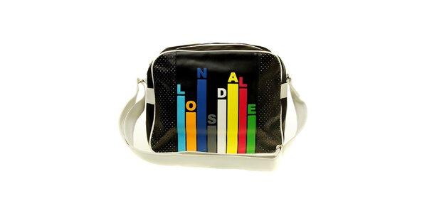 Pánska čierna taška s farebnou potlačou Lonsdale