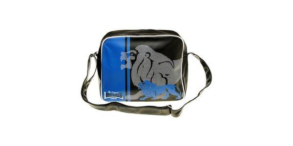 Pánska čierno-modrá taška s potlačou Lonsdale