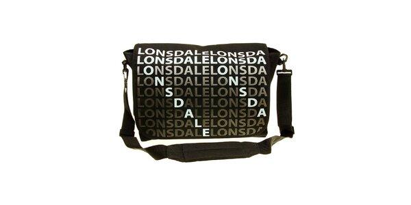 Pánska čierna taška cez rameno Lonsdale