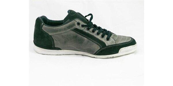 Pánske šedo-zelené tenisky Tom Tailor