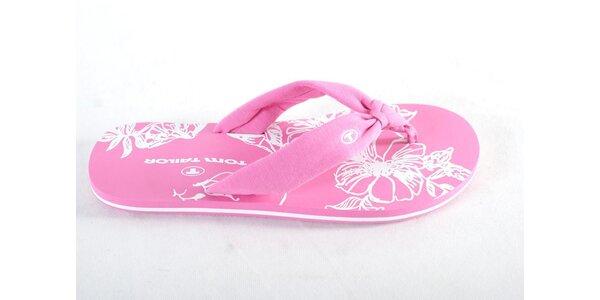 Dámske ružové žabky Tom Tailor