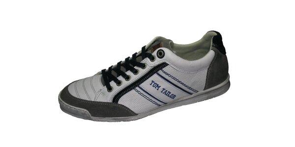 Pánske bielo-šedé tenisky Tom Tailor
