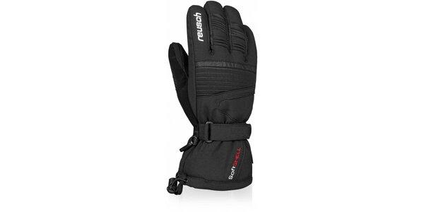 Pánske čierne softshellové rukavice Reusch