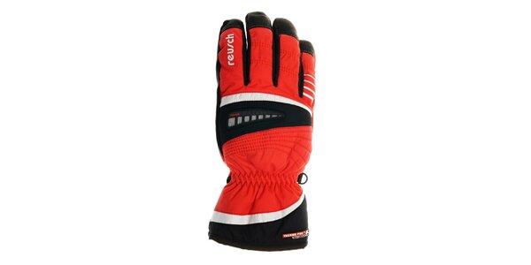 Pánske červené lyžiarske rukavice Reusch s membránou