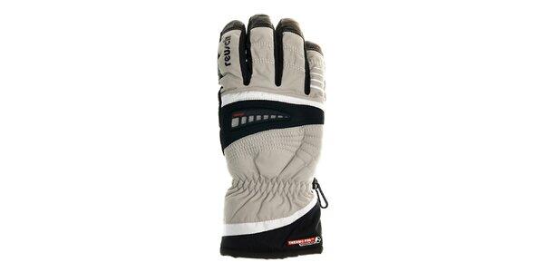 Pánske biele lyžiarske rukavice Reusch s membránou