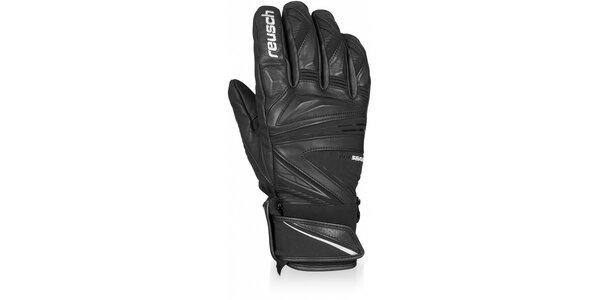 Pánske čierne profesionálne zjazdové rukavice Reusch
