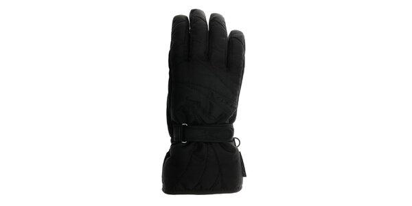 Dámske čierne zjazdové rukavice Reusch s membránou