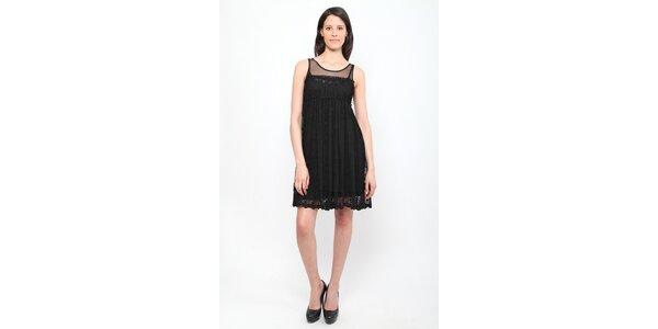 Dámske čierne čipkové šaty Miss June