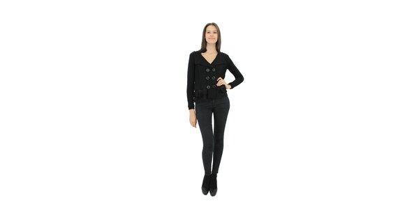 Dámsky čierny pletený kabátik Miss June